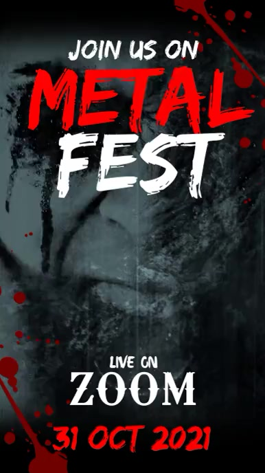 Metal fest Ecrã digital (9:16) template