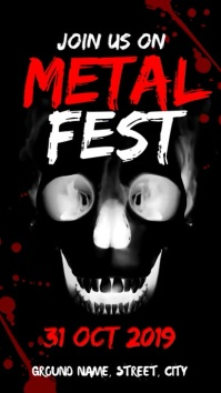 Metal fest Digital Display (9:16) template