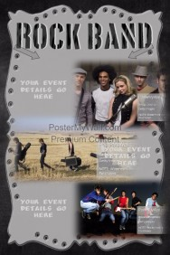 Metal Grunge Rock Band Concert Series Masculine Music Flyer