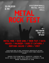 Metal Rock Fest Music Event Flyer Template