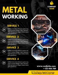 metal working flyer advertisement design temp Volante (Carta US) template