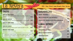 Mexican Cuisine Cinco de Mayo Menu Display template