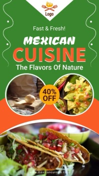 Mexican Cuisine digital signage restaurant ad template
