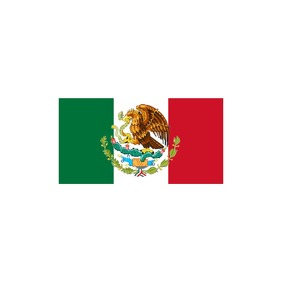 Flag of Mexico Logo template