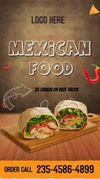 Mexican food Instagram-verhaal template