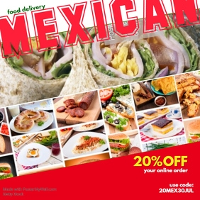 Restaurant instagram post templates postermywall mexican food insta reheart Gallery