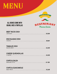 mexican food menu back 1