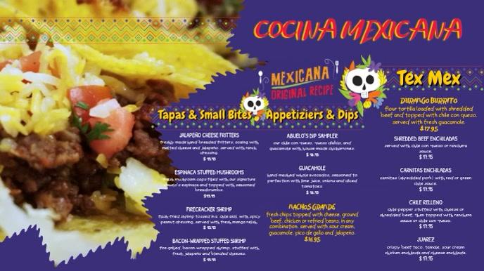 Mexican food Menu Template