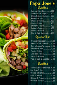Mexican Food Menu Template Poster