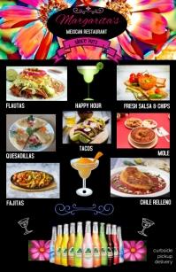 mexican food/menu templates/tacos/happy hour Tabloid