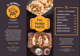 Mexican Food Tacos Restaurant Leaflet A5 template