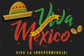 Mexican Independence Day Template Spanduk 4' × 6'