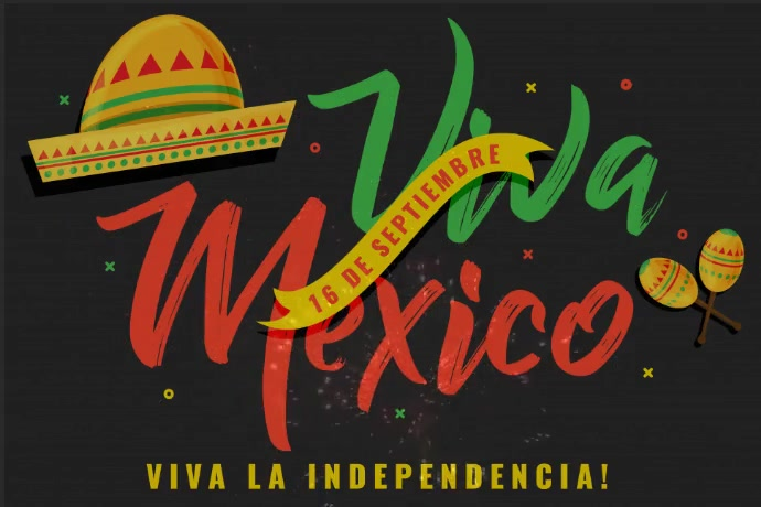 Mexican Independence Day Template 横幅 4' × 6'