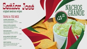 Mexican Menu Video Template Pantalla Digital (16:9)