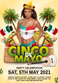 mexican party A4 template