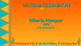 Mexican Restaurant Business Card Cartão de visita template