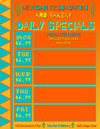 Mexican Restaurant Daily Specials