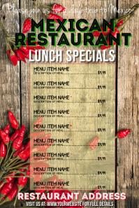 Mexican Restaurant Daily Specials Menu Advert