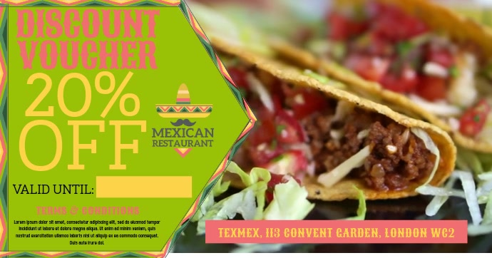 Mexican Restaurant Video Promo Ad Template