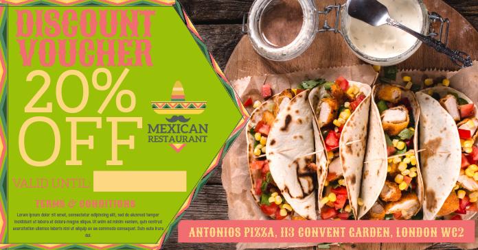 Mexican Restaurant Voucher Template