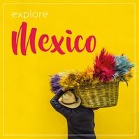 Mexico Instagram-bericht template