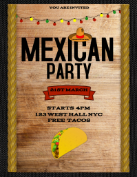 MEXICO MEXICAN EVENT DANCE PARTY FLYER