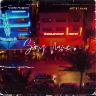Miami Beach album cover design template Обложка альбома