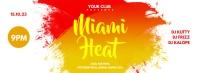 Miami Heat Facebook template