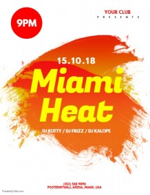 Miami Heat Flyer Template