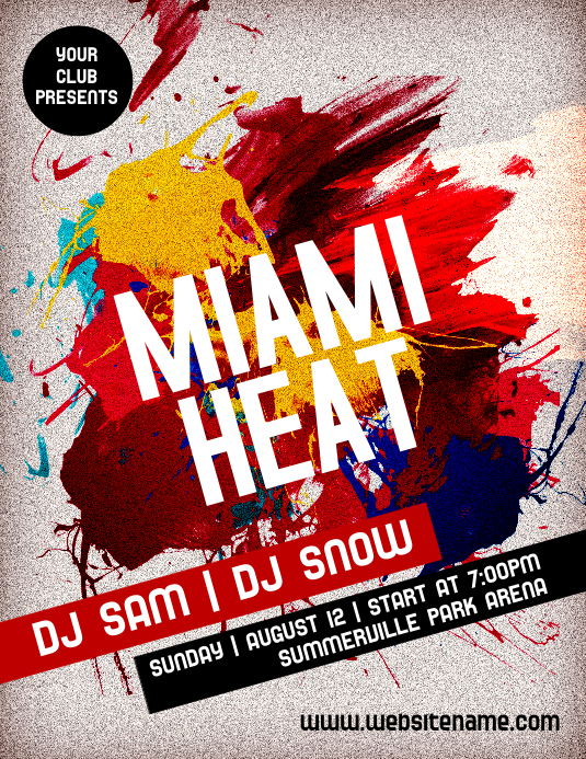 Miami Heat Flyer
