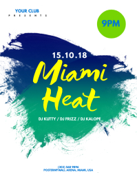 Miami Heat Flyer Template