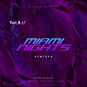 Miami Nights Abstract Purple CD Cover