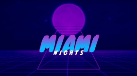 Miami Nights Retro Youtube Thumbnail