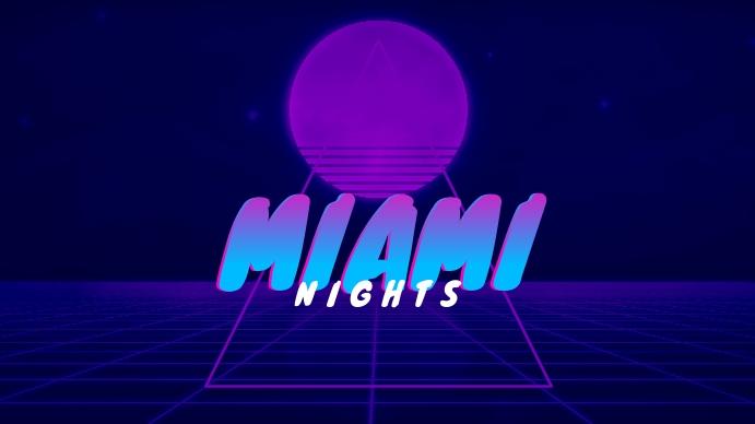 Miami Nights Retro Youtube Thumbnail template