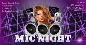 Mic Night Facebook Ad template