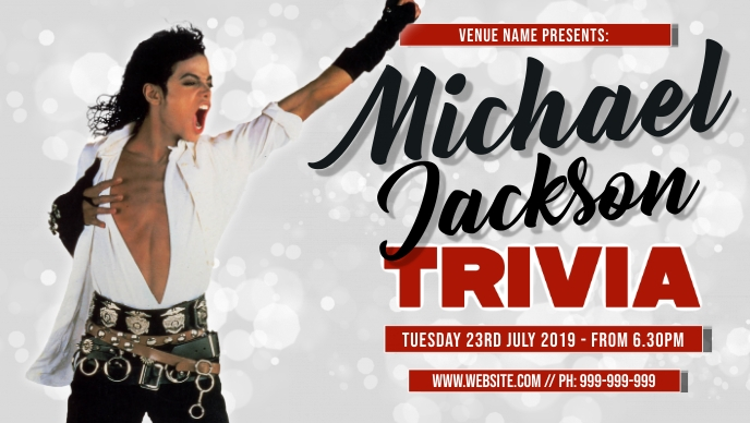 Michael Jackson Trivia Event Cover Facebook-covervideo (16:9) template
