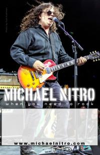 Michael Nitro Band - Blank Flyer