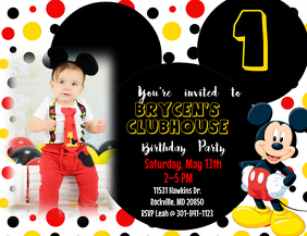 7 230 Customizable Design Templates For Mickey Mouse Birthday