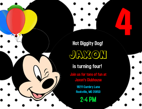 Customizable design templates for mickey mouse postermywall mickey mouse birthday invitation maxwellsz