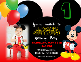 mickey mouse themed invitations