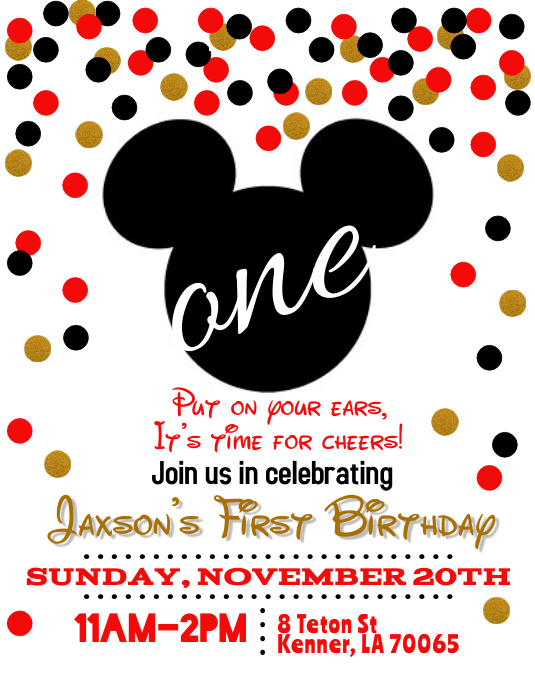 Mickey Mouse Birthday Invitation Template PosterMyWall