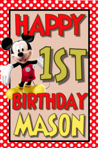 Mickey Mouse Birthday Poster