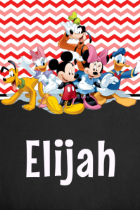 Mickey Mouse Clubhouse Name Poster