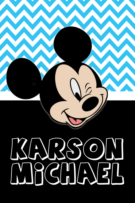 Mickey Mouse Name Poster Template Postermywall