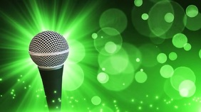Microphone virtual happy hour zoom background