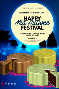Mid-Autumn Festival Flyer Design Template