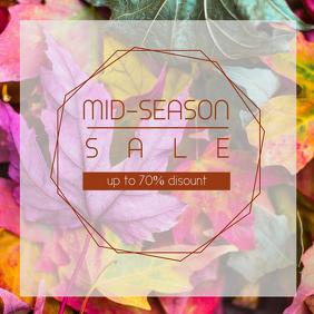 Mid-Season sale flyer