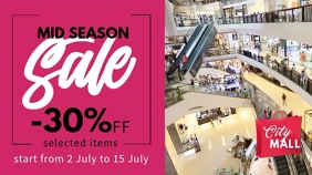 Mid Season Sale Retail Video Template Digital Display (16:9)