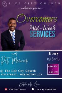 Mid Week Church Service Cartaz template