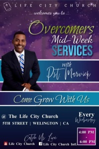 Mid Week Church Service Poster template
